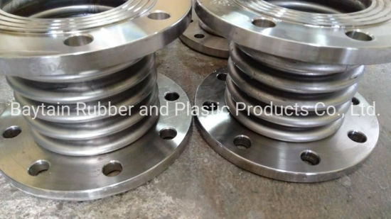 Bellow Corrugated Compensator Expansion Joint Corrugated Metal Bellows Expansion Joint with Stainless Steel Flange Stainless Steel 304 Corrugated Metal Bellows