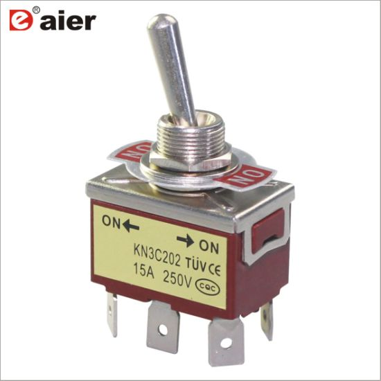 Auto Boot 6 Pin 15A Auto Tip Toggle DPDT ON-OFF-ON Schalter 12v 220-250VUUDE