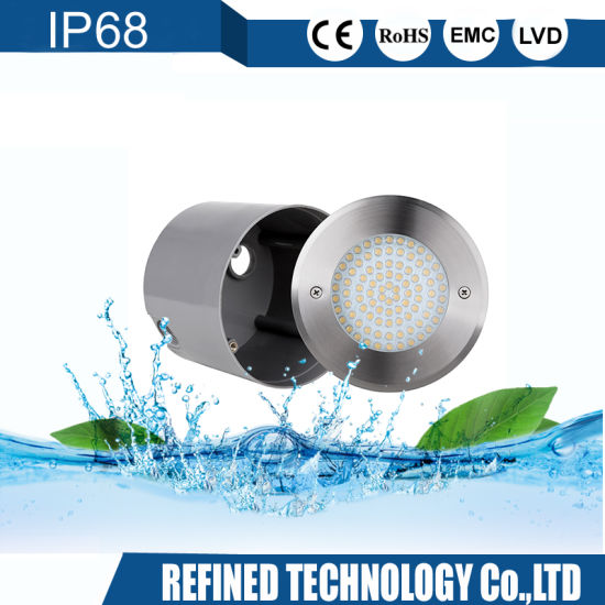 Wateproof IP68 White RGB Color 316L Stainless Steel Flush Mounted LED Underwater Pool Light pictures & photos