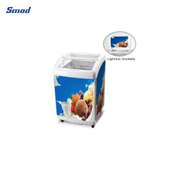 Glass Door Mini Cheap Ice Cream Freezer Display