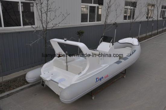 Liya 660 Fiberglass Rigid Inflatable Rib Boat Tourist Passenger Boat