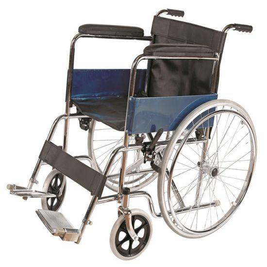 Adult Chrome Steel Basic Standard Manual Lightweight Wheelchair