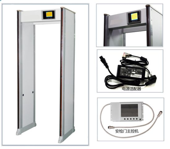 "New Design IP65 Waterproof 33 Zones Security Door Frame Metal Detector Gate with 7"" LCD Display pictures & photos"