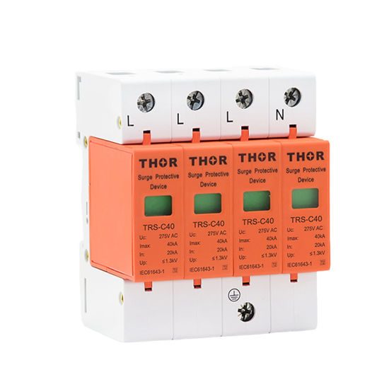 40ka Power Surge Protector Three Phase SPD C40 Surge Protective Device pictures & photos