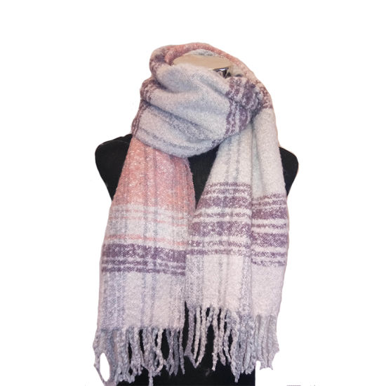 Lady Winter Fashion Knitting Soft Touch Boucle Marl Blanket Scarf pictures & photos