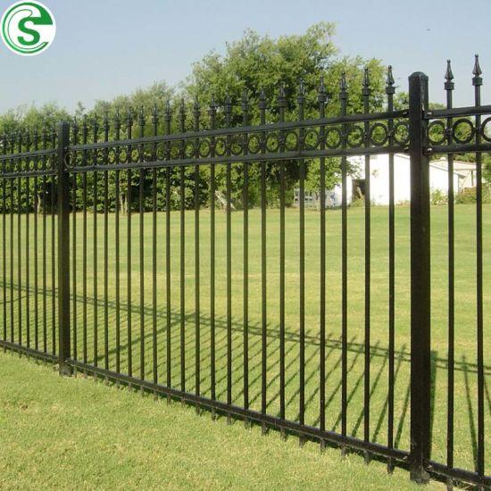 Galvanized Pipe Powder Coated Black Front Yard Fence Back Yard Fence
