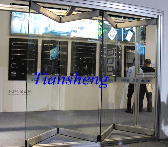China Commercial Frameless Glass Folding Doors - China Sliding Door ...
