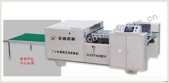 Full Automatic Shoe Box Pasting Machine (ZXT900) pictures & photos