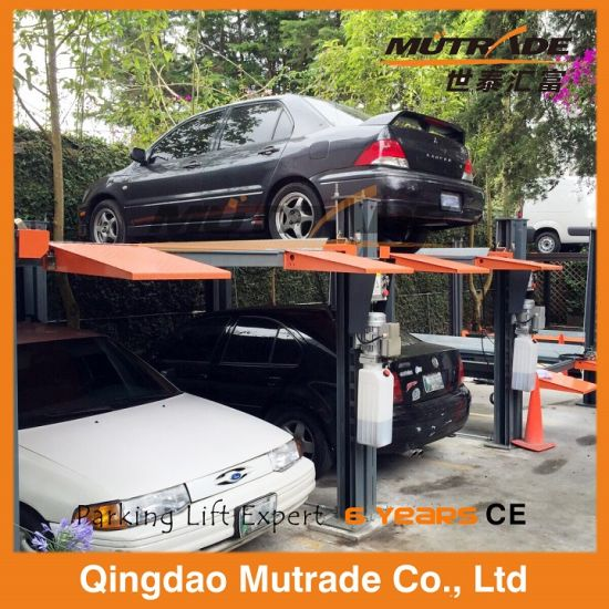 Heavy Duty Four Post Hydraulic Car Parking Lift pictures & photos