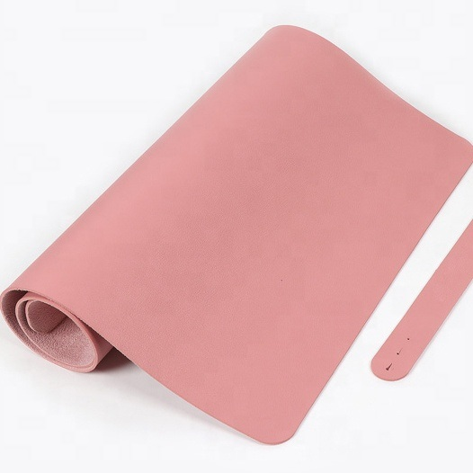Custom Any Size Double-Sided Waterproof PU Leather Computer Desk Mat Mouse Pad