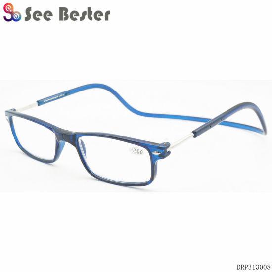 66e9e5ae1311 Upgraded Unisex Magnet Reading Glasses Men Women Colorful Adjustable  Hanging Neck Magnetic Front Presbyopic Glasses