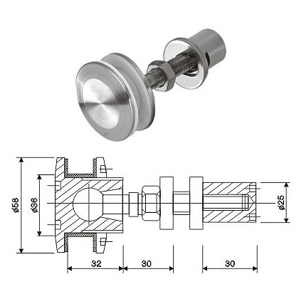 Glass Wall Fitting Bolt (KL-GF200T02)
