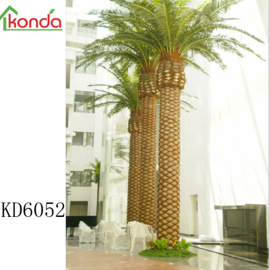 Large Decorative Fake Tree Artificial Canary Date Palm Tree for Garden Outdoor Project Decor