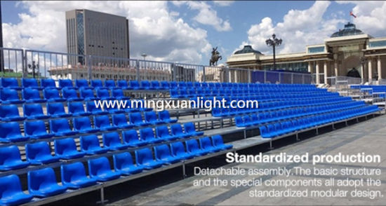 High Quality Mobile Retractable Aluminum Stepped Grandstand