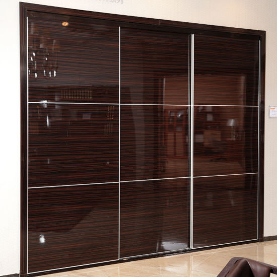 China Oppein Brown High Gloss Bedroom Furniture Yg11315