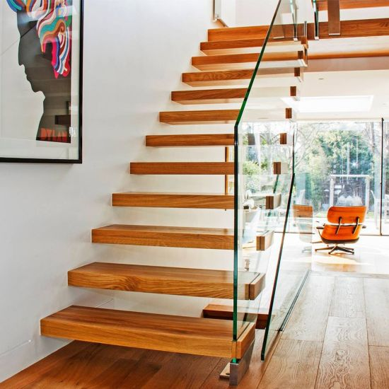 Wooden Cantilever Staircase Designs For Homes