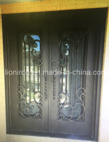 Big Discount Metal Front Doors Wrought Iron Entrrance Designs