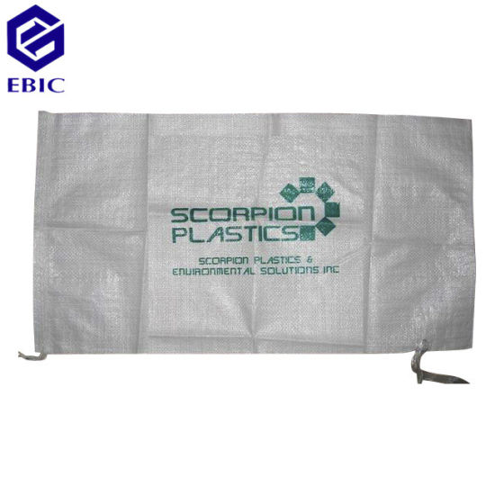 Anti-Flood PP Woven Sand Bag with Tie String pictures & photos
