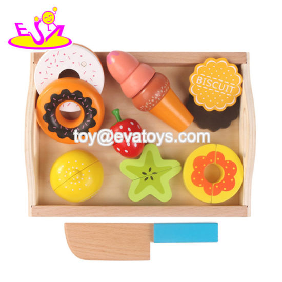 New Hottest Simulation Wooden Kitchen Toy Play Food Sets for Kids Pretend Play W10b198