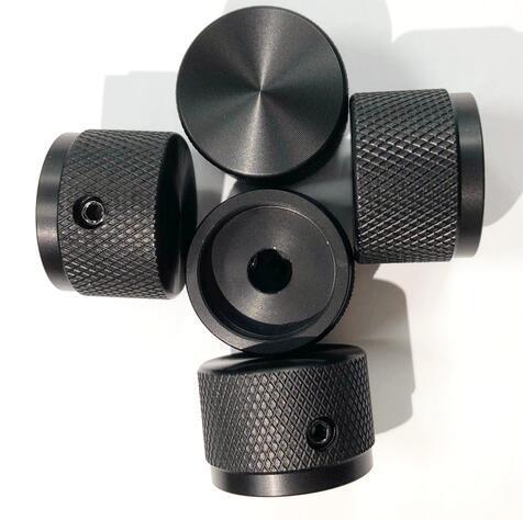 Black White Gold Audio Amplifier Aluminum Rotary Volume Control Potentiometer Knob