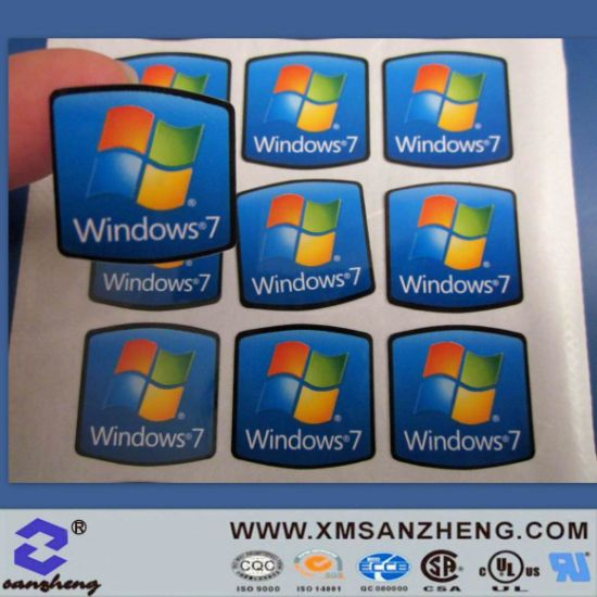 Custom Self Adhesive High Temperature Resistant Laptop Computer Logo Stickers