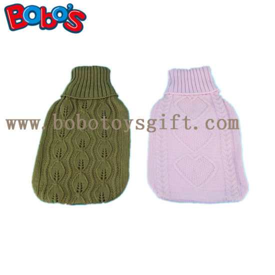 New Design Knitted Hot Water Bag Cover with POM POM Ball pictures & photos