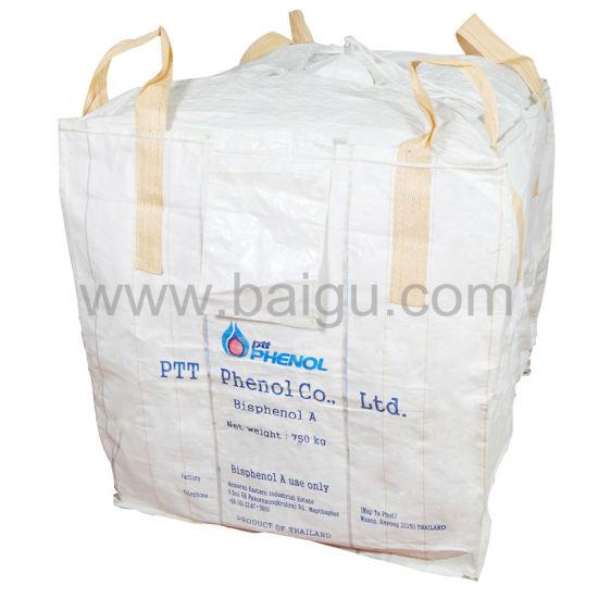 China Cross Corner PP Big Bag with Top Fill Spout - China