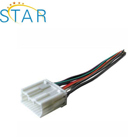 wire harness manufacturer custom car stereo iso cable harness with 14pin  connector for mitsubishi wire harness