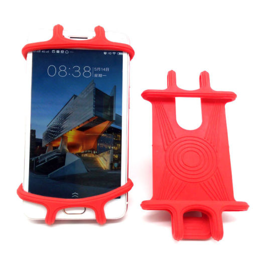 Eco-Friendly Outdoor Silicone Bicycle Motorbike Mobile Cell Phone Anti-Slip Mount Holder