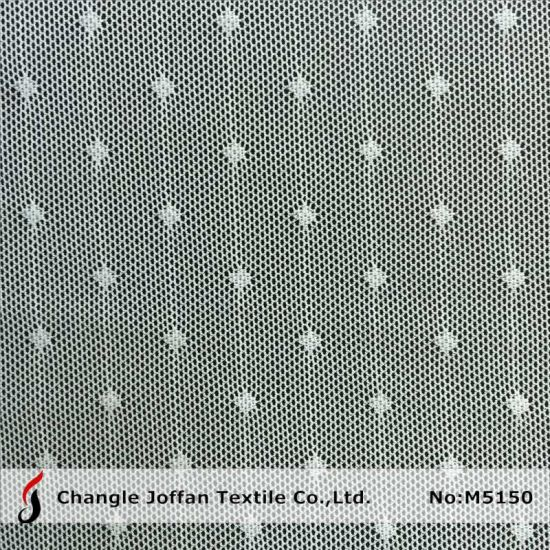 White Wholesale DOT Fabric Lace (M5150)