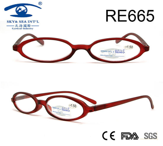 da58e2121d1 Small Frame Wine Color China Wholesale Reading Glasses (RE665) pictures    photos