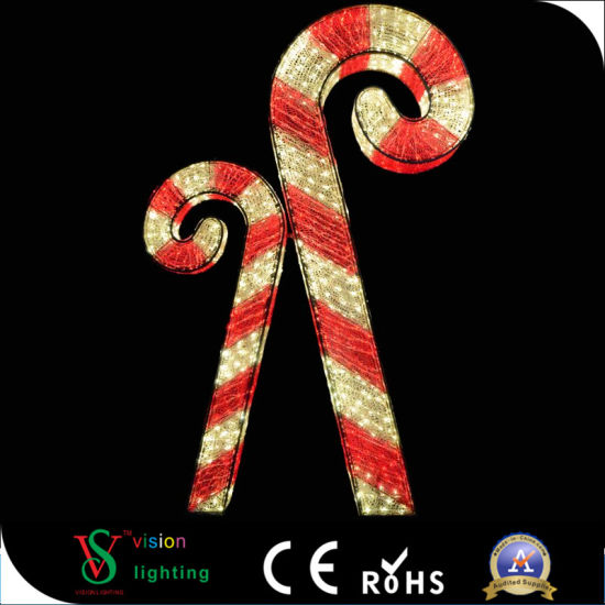 China Outdoor 3d Christmas Decorative Candy Cane Lights China 3d