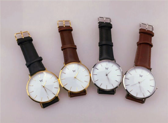 Classical Fashion Geunine Leather Quartz Watch for Men/ Retro Leather Watch (DC-037) pictures & photos