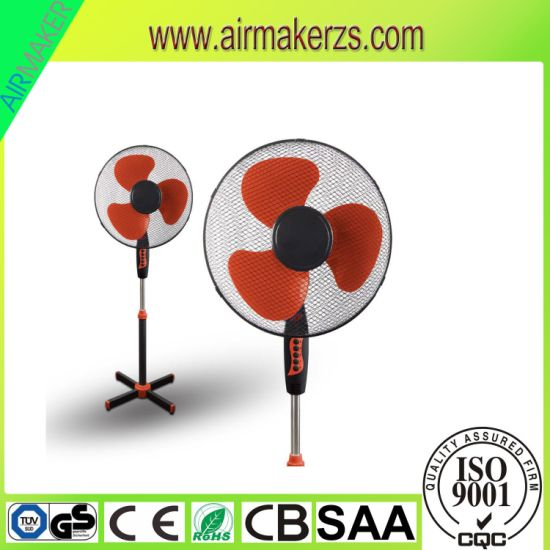 Simple Design 16 Inch Cross Base Plastic Stand Fan with 3 Plastic Blades