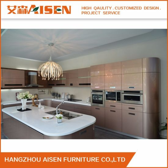 High Quality 2015 Plywood Baking Paint New Kitchen Cabinet Design