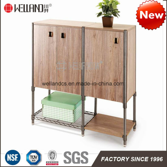 China Easy Assemble Modern Steel-Wooden Furniture with Wood