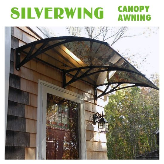 China Solid Polycarbonate Shed Entry Front Door Canopy For Balcony