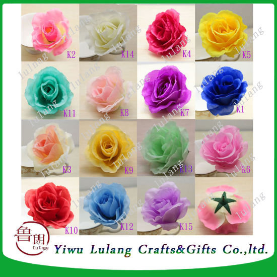 China artificial rose silk flower head party wedding decor craft diy artificial rose silk flower head party wedding decor craft diy mightylinksfo