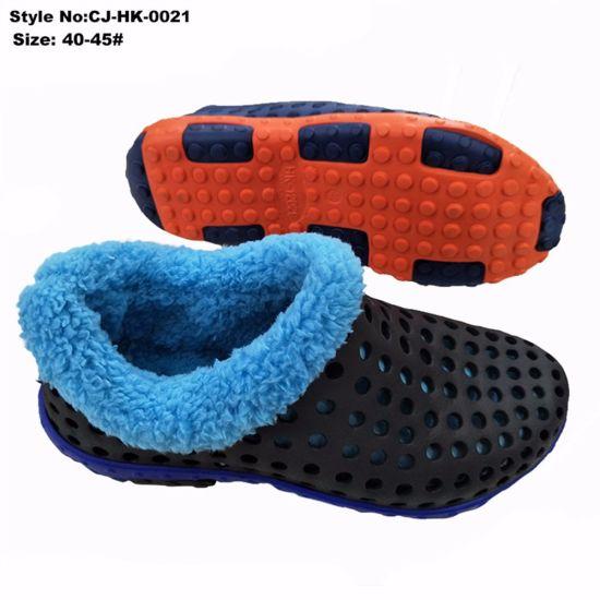 c6b333a1ba9c8 Breathable EVA Holey Men Clogs Fashion Style with Washable Insole Fur