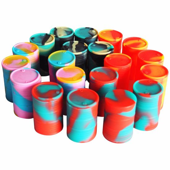 Chinese Supplier Wholesale Food Grade Silicone Oil Drum Jar