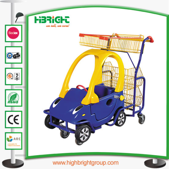Supermarket Kids Cart with Toy Car for Retail Shop pictures & photos