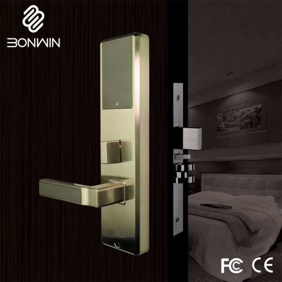 Electronic Hotel Key Card Door Handle Lock pictures & photos