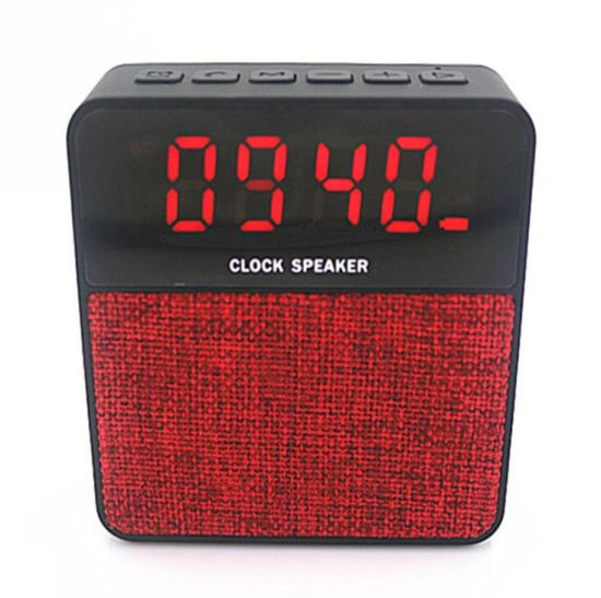 Mini Portable Wireless Bluetooth Speaker Sound Box Fabric with Clock Speaker