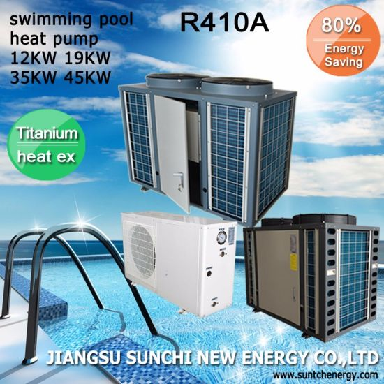 Heating 20~80cube Meter Pool Thermostat 32deg. C High Cop4.62 Titanium 9kw/12kw/19kw Small Swimming Pool Residential Heat Pump pictures & photos
