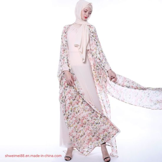 China 2020 New Design Beautiful Young Lady Modest Dresses Qatar Morocco Kimono Wholesale Muslim Islamic Clothing Dubai Women Chiffon Vestidos Abaya China Chiffon Abaya And Kaftan Dress Price