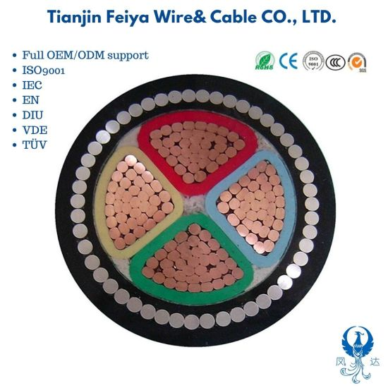 N2xry LV 0.6/1kv Cable XLPE Power Cable 4 X 25mm2