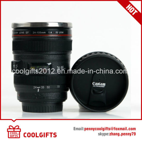 Hot Sale Stainless Steel Travel Camera Lens Coffee Mug / Cup pictures & photos
