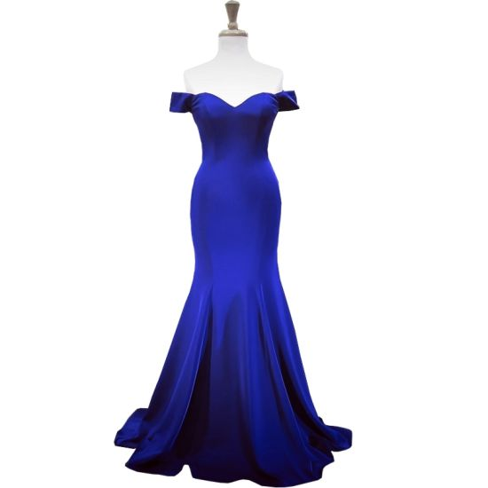 off Shoulder Prom Dresses Blue Wine Bridesmaid Formal Gowns Cheap Evening Dress Z219 pictures & photos