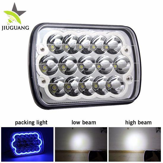 Automotive Lighting Super Bright 5 X 7inch LED Headlight, 45W High Low Beam Rectangular 12V 24V LED Lights for Trucks