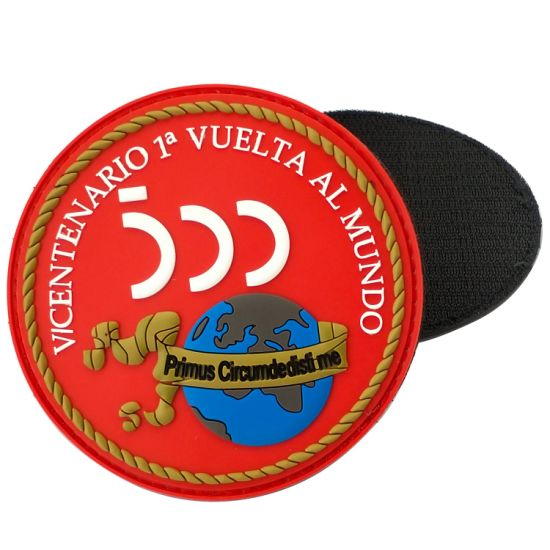 Custom Circle or Shield Shape PVC Patch with Adhesive Backing Bag Cloth Rubber Patches Velcro The Reverse Side